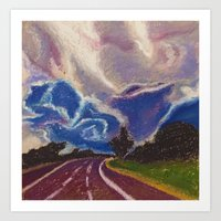 road Art Prints featuring Road by Shazia Ahmad