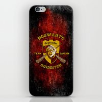 quidditch iPhone & iPod Skins featuring Gryffindor lion quidditch team captain iPhone 4 4s 5 5c, ipod, ipad, pillow case, tshirt and mugs by Three Second