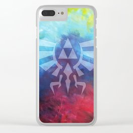 The Legend Of Zelda Triforce Rainbow Color Clear iPhone Case