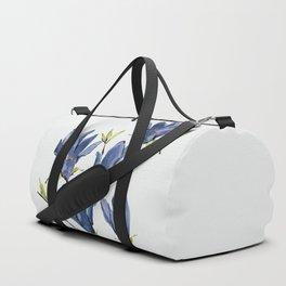 Blue Flowers 3 Duffle Bag