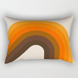 Golden Bending Bow Rectangular Pillow