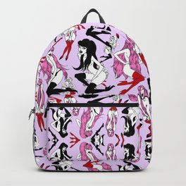 Pink Black Vamp Paradise Backpack