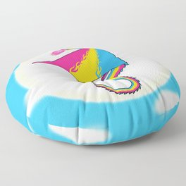 Fly With Pride, Dragon Series - Pansexual Floor Pillow
