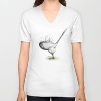 golf V-neck T-shirts featuring  Golf  by Eyad Shtaiwe