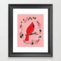 Northern Cardinal by Andrea Lauren  Framed Art Print