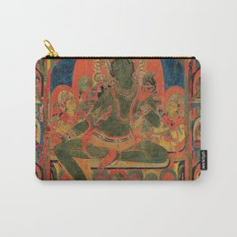 Hindu Krishna Tapestry Carry-All Pouch