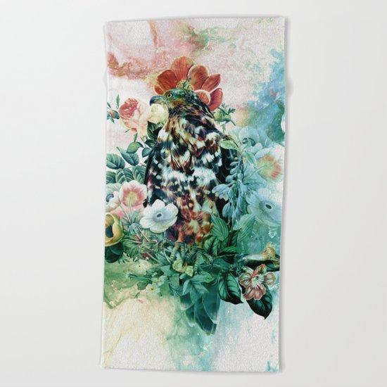 Bird in Flowers Beach Towel