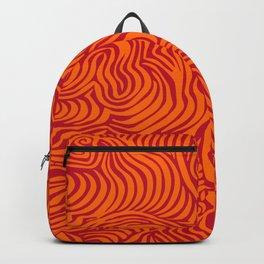 orange red flow Backpack