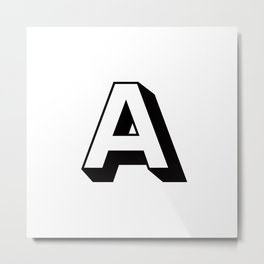 Letter A ... As Easy As... Metal Print