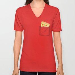 Emergency supply - pocket pizza Unisex V-Neck