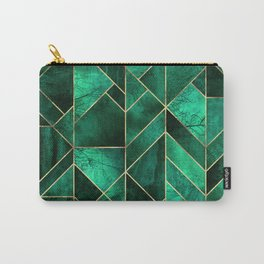 Abstract Nature - Emerald Green Carry-All Pouch