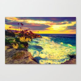 Glowing sea Canvas Print