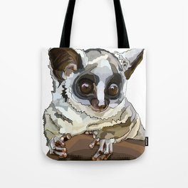 Cute Bushbaby - Baby Animal with Big Eyes White Background Tote Bag