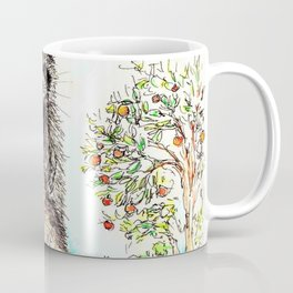 Raccoons in the Forest (color edition) Coffee Mug