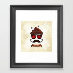 Hipster Hat Framed Art Print