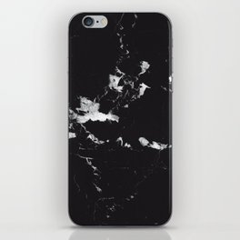 Black Marble #1 #decor #art #society6 iPhone Skin