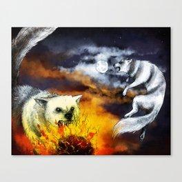 Hati and Skoll Canvas Print