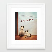 friendship Framed Art Prints featuring Friendship by Naomi VanDoren