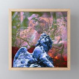 Io non cambierei il canto di un angelo - blue Framed Mini Art Print