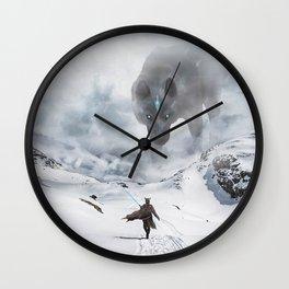 Ancient Wolf Wall Clock