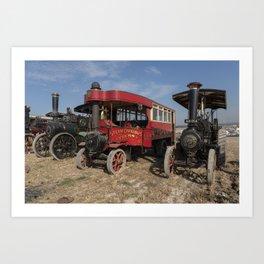 Steam bus and Friends  Art Print