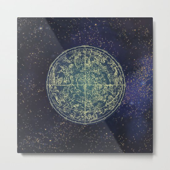 Ancient zodiac Metal Print