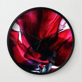 Flower Petals Artfully Arranged Wall Clock