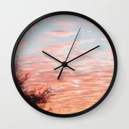 Texas Hill Country Sky - Sunrise 4 Wall Clock