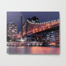 Bridge to Queens Metal Print