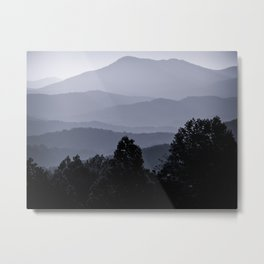 Misty morning at the Smoky's Metal Print