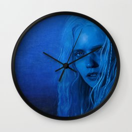The Blue Angel Woman Wall Clock