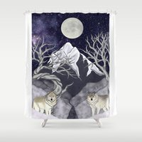 guardians Shower Curtains featuring Guardians by Yoly B. / Faythsrequiem