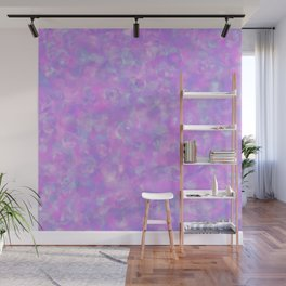 Lilac Clouds - Speckled Floral Watercolor Texture Wall Mural