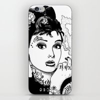 tiffany iPhone & iPod Skins featuring Tiffany by AdamWillis