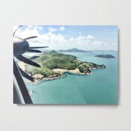 Flying over Whitsundays Metal Print