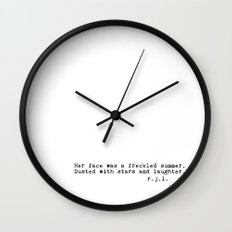 Typewriter Thoughts #4 - freckled summer Wall Clock
