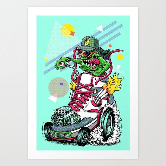 RIDE IT, KICK IT! Art Print