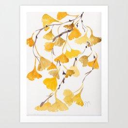 Essence of Gingko Art Print