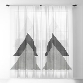 Arrows Monochrome Collage Sheer Curtain