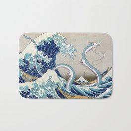 Haku and the Great Wave Bath Mat