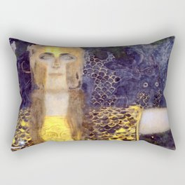 "Gustav Klimt ""Pallas Athene"" Rectangular Pillow"