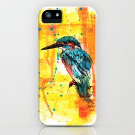Painting of Kingfisher iPhone Case