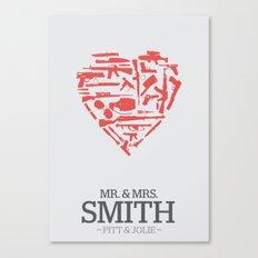 Mr. & Mrs. Smith - minimal poster Canvas Print