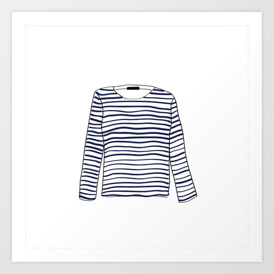 Sailor Tee - Navy Art Print