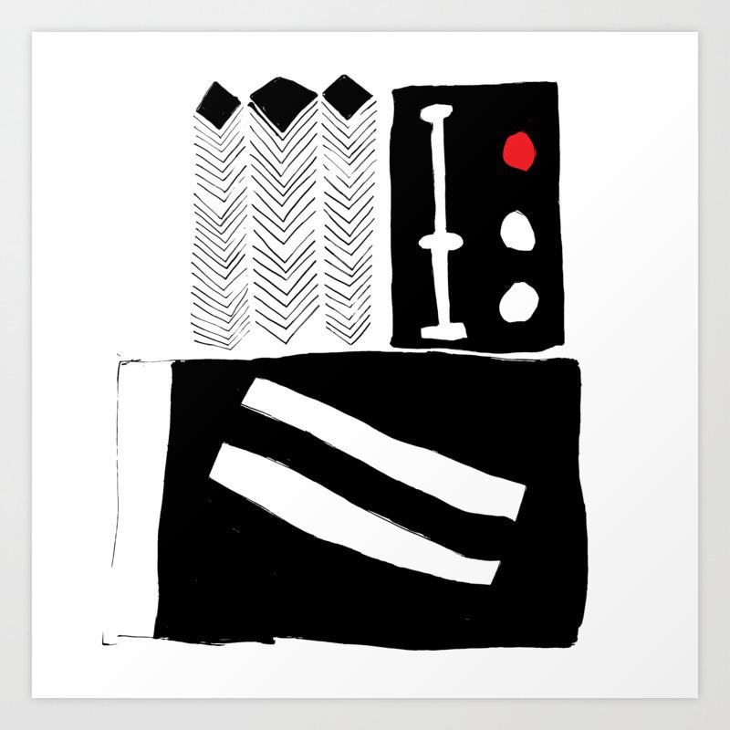 Contemporary Scandinavian Modern Minimalist Design Art Print