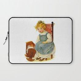 Vintage Girl Baby Doll Laptop Sleeve