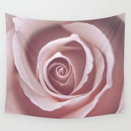 Pink Pastel Rose Wall Tapestry
