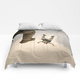 Parachuting sky 3 Comforters