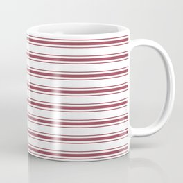 Dark Red Pear Mattress Ticking Wide Striped Pattern - Fall Fashion 2018 Coffee Mug