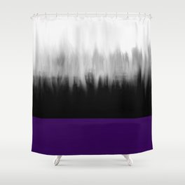 Asexuality Spectrum Flag Shower Curtain